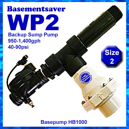 Basementsaver WP2 Water Powered Backup Sump Pump